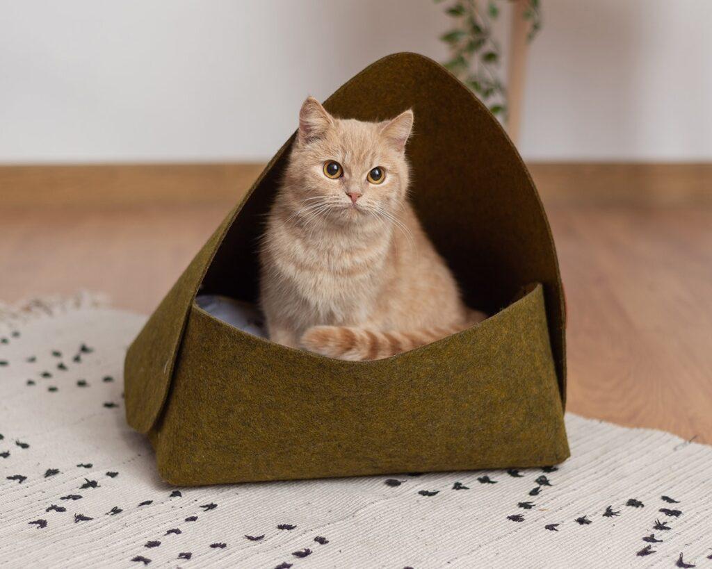 Лежак для кошки зеленый