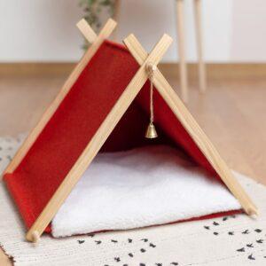 Домик для кошки красный