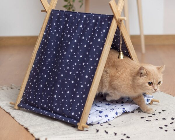 Домик для кошки с лежанкой