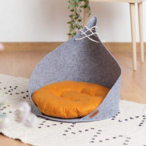 Домик для кошки из войлока юрта